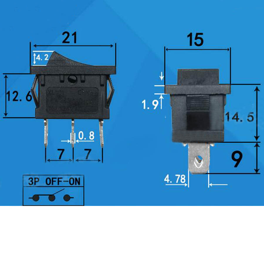 20pcs 7ka 0018 2pin On Off Rocker Switch Mini Boat For Spst Wiring Diagram Car Dash Dashboard Truck Home Toggle Snap In Switches From Lights