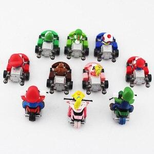 Image 3 - 10ชิ้น/ล็อตSuper Mario Bros KartดึงกลับรถMario Luigi Yoshiคางคกเห็ดเจ้าหญิงพีชDonkey Kongรูปของเล่น