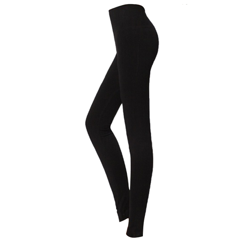LBFS Fashion Woman New Brushed Stretch Fleece Lined Thick Leggings Winter Pants Warm Leggings Black Grey 86 Cm