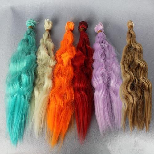 5pcs / lot NOUVEAU maïs perruque ondulée bouclée bricolage - Poupées et accessoires - Photo 6