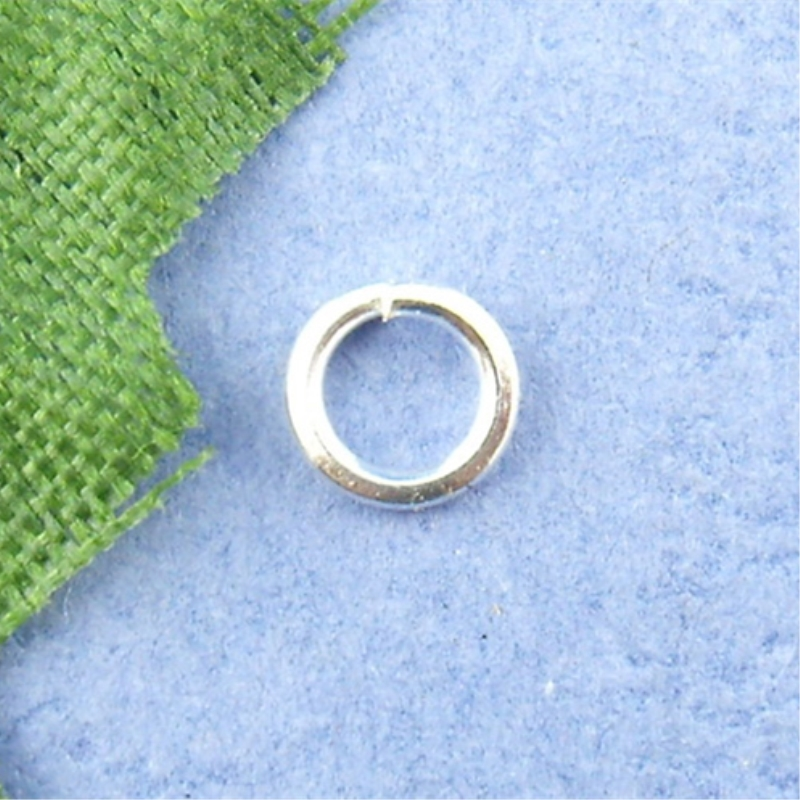 DoreenBeads 1500PCs Silver Color Open Jump Ring 4mm In Dia. (B00491)