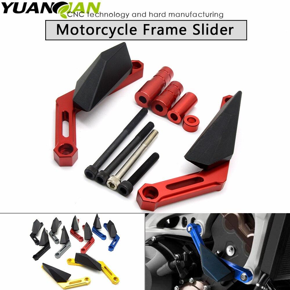 Motorcycle CNC Frame Slider frame sliders crash pads protect Motorbike Falling Protector For YAMAHA MT-09 MT 09 MT09 2013-2016