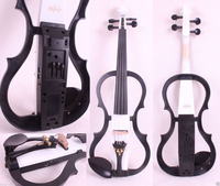 Mouse over image to zoom New 4/4 Electric Violin Solid wood Powerful Sound Big jack Small jack Master