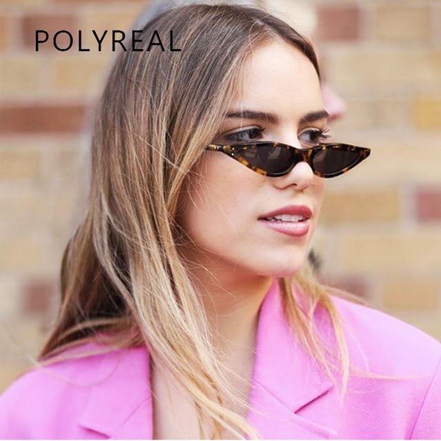 Polyreal 2018 новых малых кошачий глаз Солнцезащитные очки для женщин Для женщин Брендовая Дизайнерская обувь зеркало оттенки женские пикантные модные Защита от солнца Очки для женщин