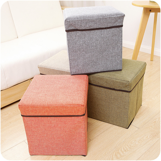 2017 New Fashion Elegant linen sofa stool sitting home shoes folding stool storage box can be & Aliexpress.com : Buy 2017 New Fashion Elegant linen sofa stool ... islam-shia.org