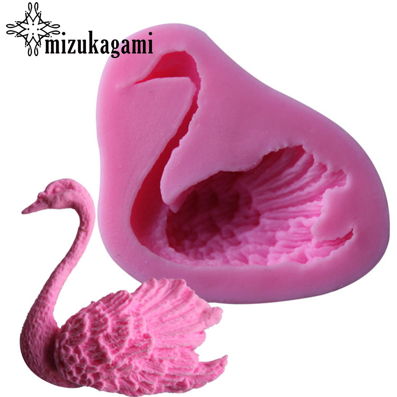 UV Resin Jewelry Liquid Silicone Mold Pink Swan Charms Pendant Mold Resin Molds For DIY Animal Pendant Charms Making Jewelry