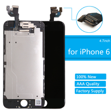 AAA Quality Touch Screen LCD Full Assembly Display for iPhone 6 LCD Digitizer Display Complete Replacement Screen No Home Button ll trader black new quality aaa touch screen lcd for ipod touch 4 4g 4th lcd display digitizer assembly full replacement tools