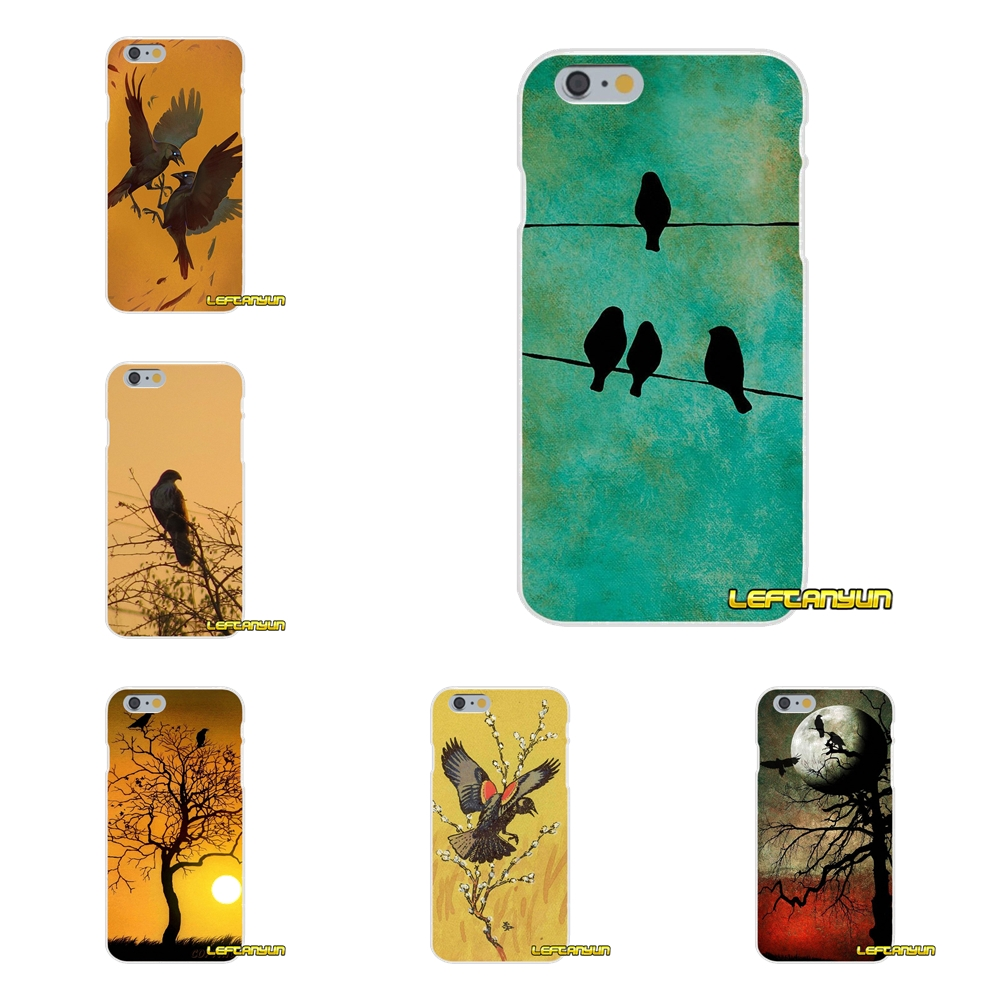 Bird Silhouette Bird on Wood Soft Silicone phone Case For Xiaomi Redmi 2 4 3 3S Pro Mi3 Mi4 Mi4C Mi5S Mi Max Note 2 3 4