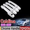 For Toyota Caldina 2003 2007 Chrome Handle Cover Trim Set 2004 2005 2006 4Door Never Rust