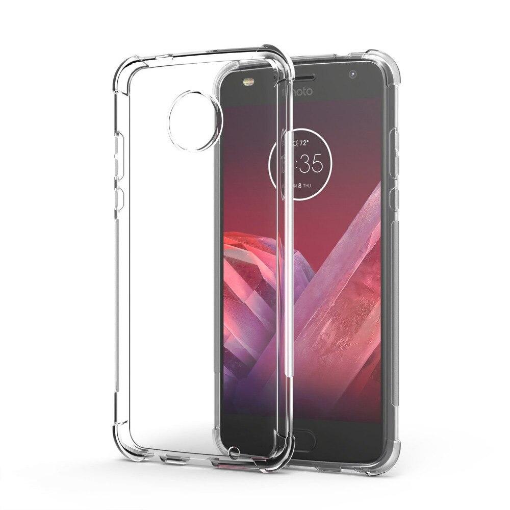 transparent Shockproof Anti-skid TPU Gel Skin soft Case Cover For Motorola Moto Z2 Force/Moto Z2 Force Droid