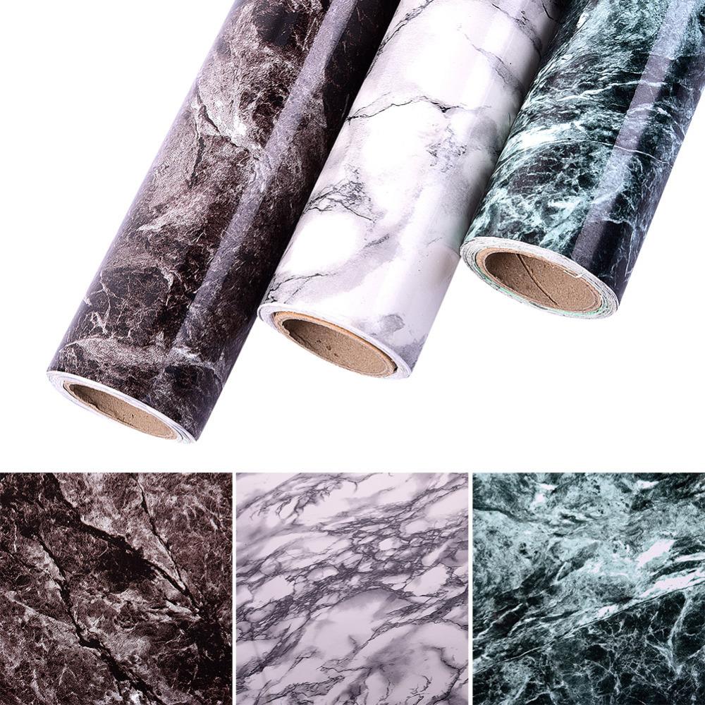 Pvc selbstklebende imitation marmor muster wandaufkleber kleiderschrank möbel vinyl dekorative film küchenschrank wohnkulturchina