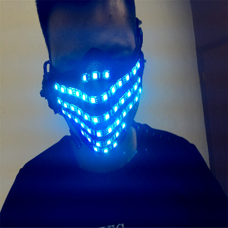 T95 Бальные Танцы костюмы со светодиодами RGB свет маска гримаса для Хэллоуина, костюмированная театральная одежда Вечерние dj светящиеся для ...
