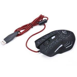Image 5 - HXSJ A904 עם תאורה אחורית LED משחקים חוטית USB עכבר מתכוונן 5500 DPI 6 לחצנים עכבר אופטי למחשב נייד מחשב LOL DOTA משחק