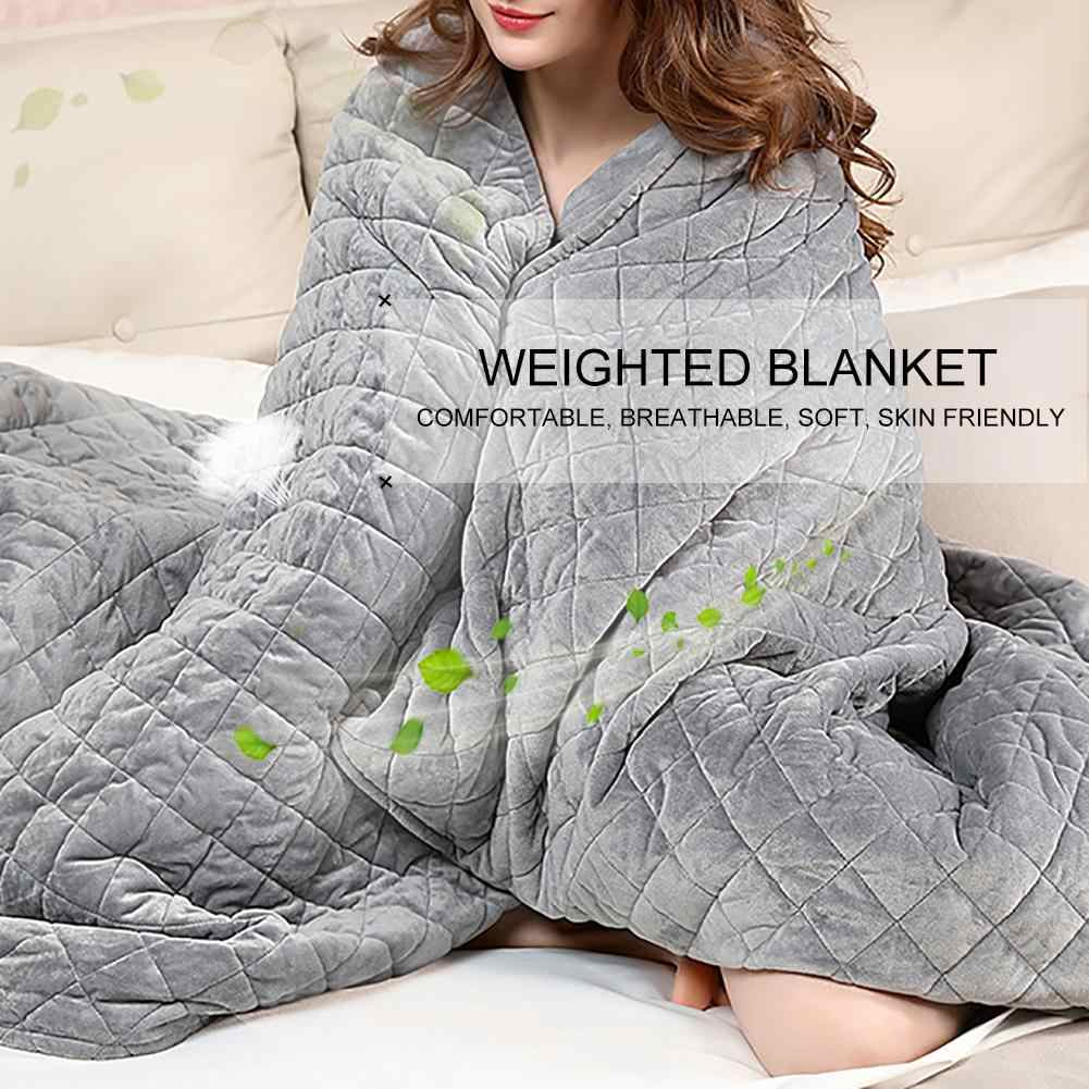 Polyester Adult Weighted Blanket Quilt Sleep Helper for Anxiety Insomnia Stress Set Bedspread Plush Cover for Bed Sofa Warm