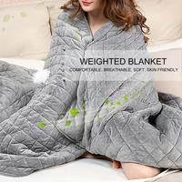 Adult Weighted Blanket Quilt Sleep Helper for Anxiety Insomnia Stress Set Bedspread Plush Cover for Bed Sofa Warm 1 1.85kg
