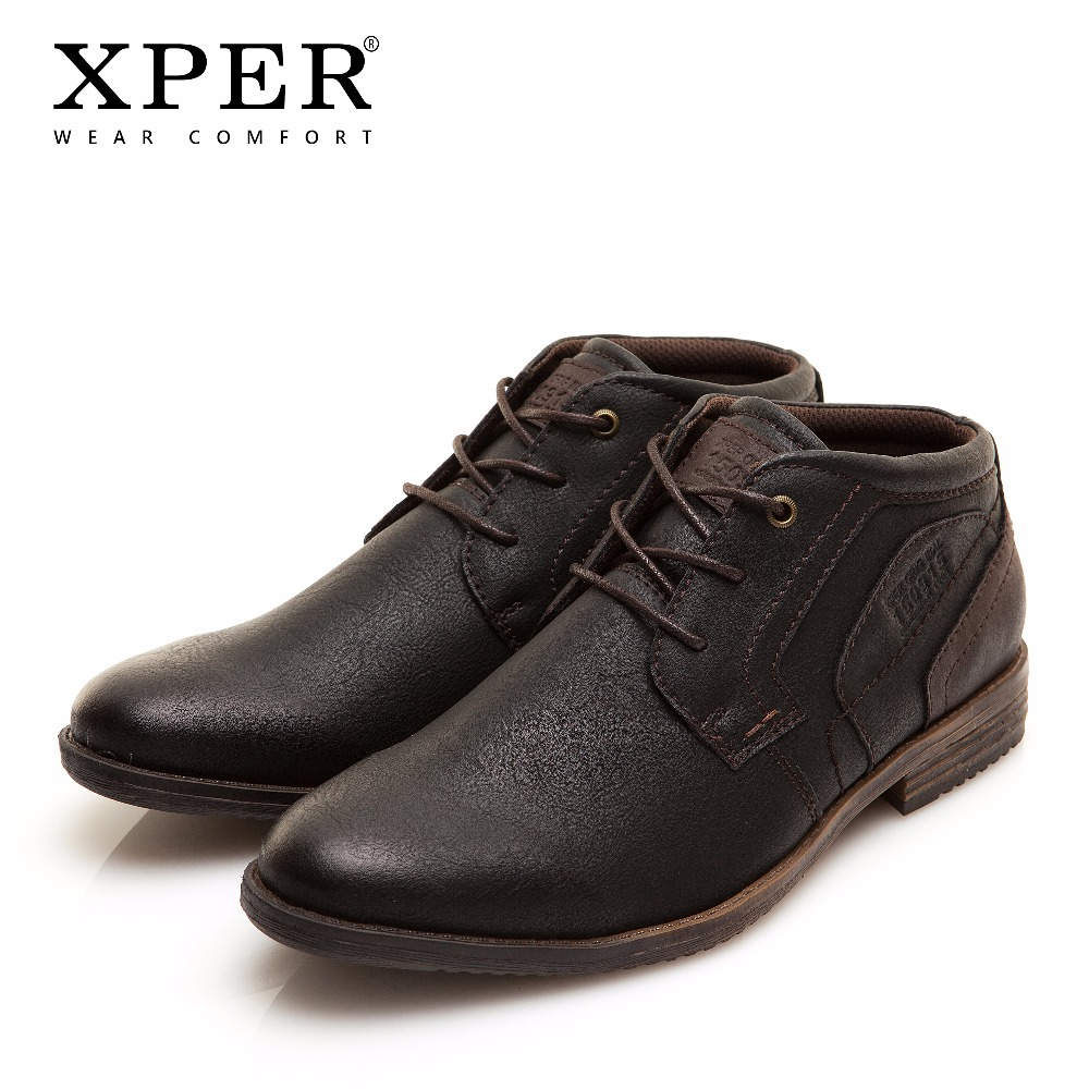 41~46 Men Boots Spring/Autumn Work Boots Motorcycle Retro Men Winter Boots XPER #XHY11607BR mulinsen latest lifestyle 2017 autumn winter men