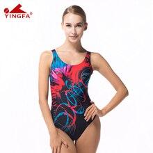 Yingfa 2016 NUEVO profesional de trajes de baño traje de baño femenino de deportes de natación traje de baño deporte mujeres de las señoras medias de natación