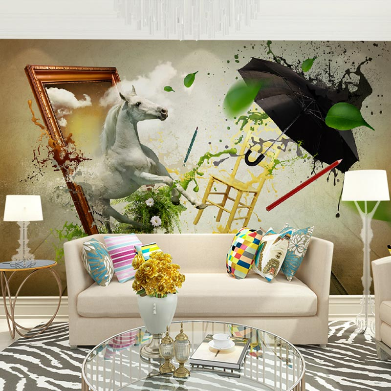 Home Decor Wall Papers Modern 3d Living Room Bedroom Art Painting Custom Photo Wallpaper Mural Self Adhesive Vinyl Optional