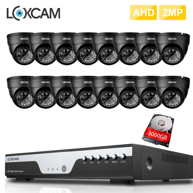 16Channel Full HD AHD CVI 1080P CCTV System 16pcs 1080p 2.0MP Security camera IP66 in/outdoor Waterproof video surveillance kit