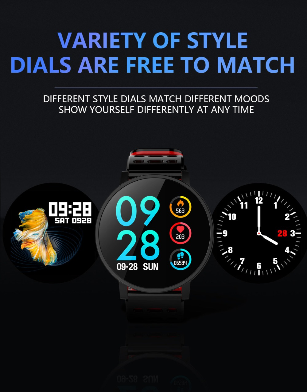 Q9 Smartwatch IP67 Waterproof Wearable Device Bluetooth Pedometer Heart Rate Monitor Color Display Smart Watch For AndroidIOS (5)