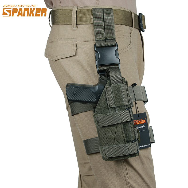 EXCELLENT ELITE SPANKER Military Tactical Mini Drop Leg Panel with Universal Pistol Holster Outdoor Hunting Hanging