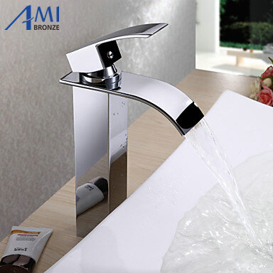 7 Style Waterfall Bathroom Basin Faucets Mixer Tap Chromed Polished Brass Faucet