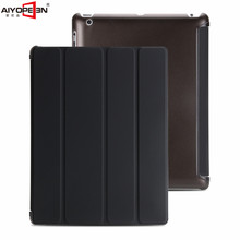 for apple ipad 2 3 4 case pu leather smart wake up sleep with matte transaprent pc back cover ultra slim flip stand for apple ipad mini 4 360 hand rotating case pc silicon stand flip cover wake up sleep with stylus black white rose red pink