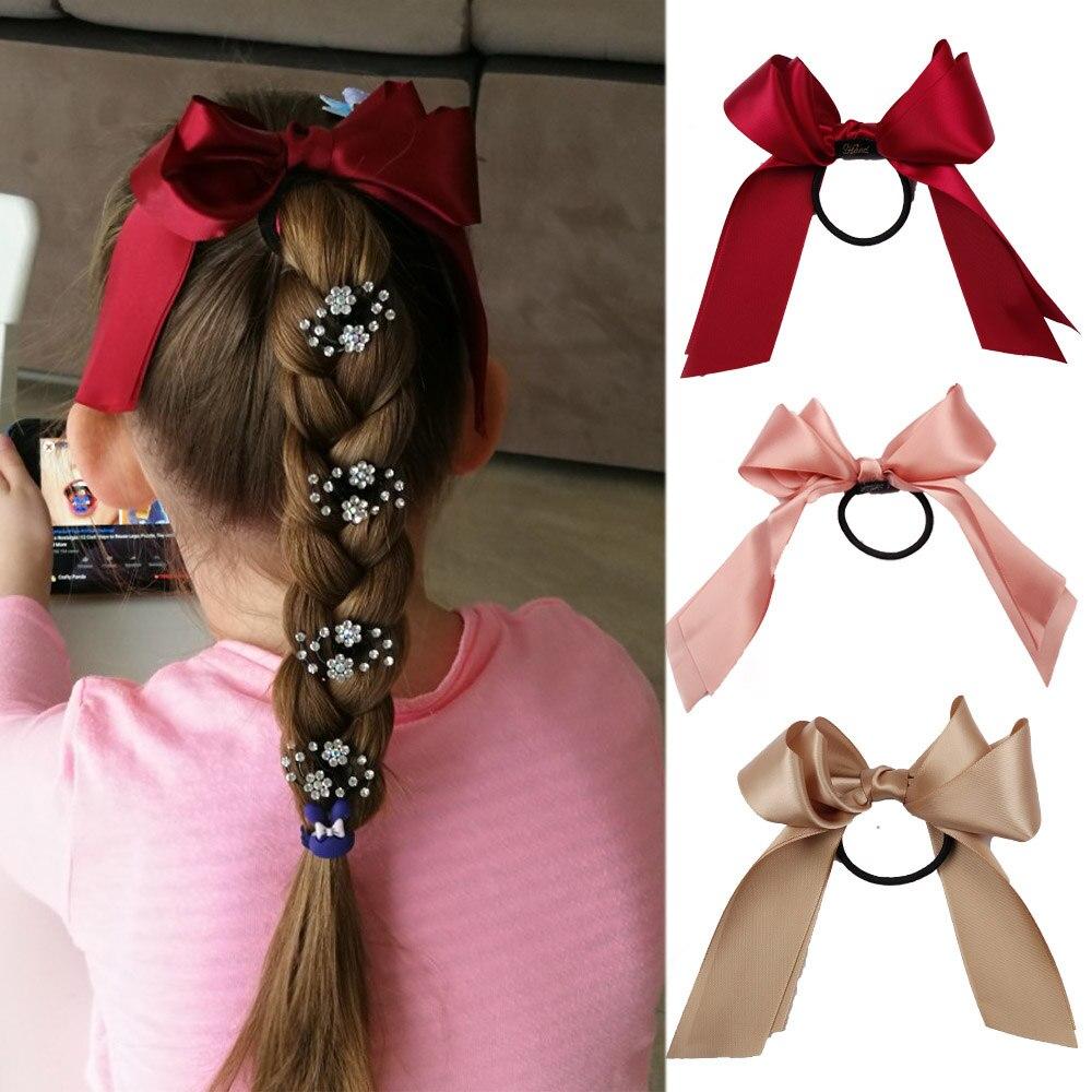 Accesorios para el cabello bandas de goma para mujeres Tiara cinta de raso de pelo lazo elástico Banda de pelo cuerda Scrunchies coleta soporte de goma para niñas
