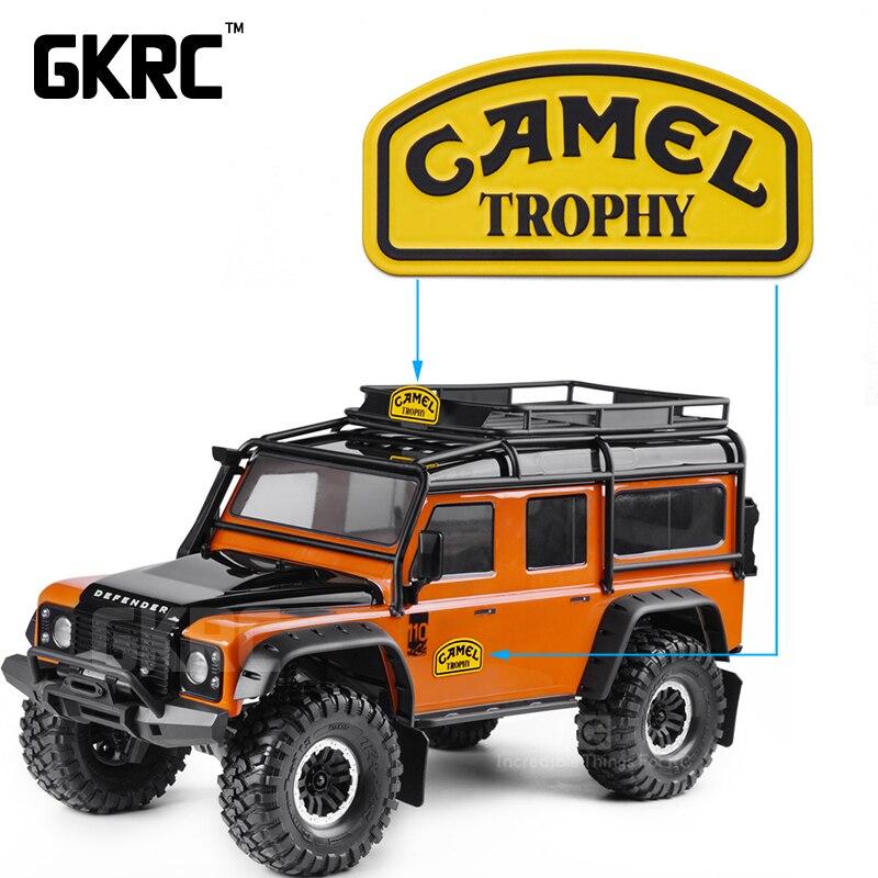 1/10 de Metal Camel Trophy insignia para 1/10 RC Crawler coche Land Rover Defender Traxxas TRX4 RC4WD D90 D110