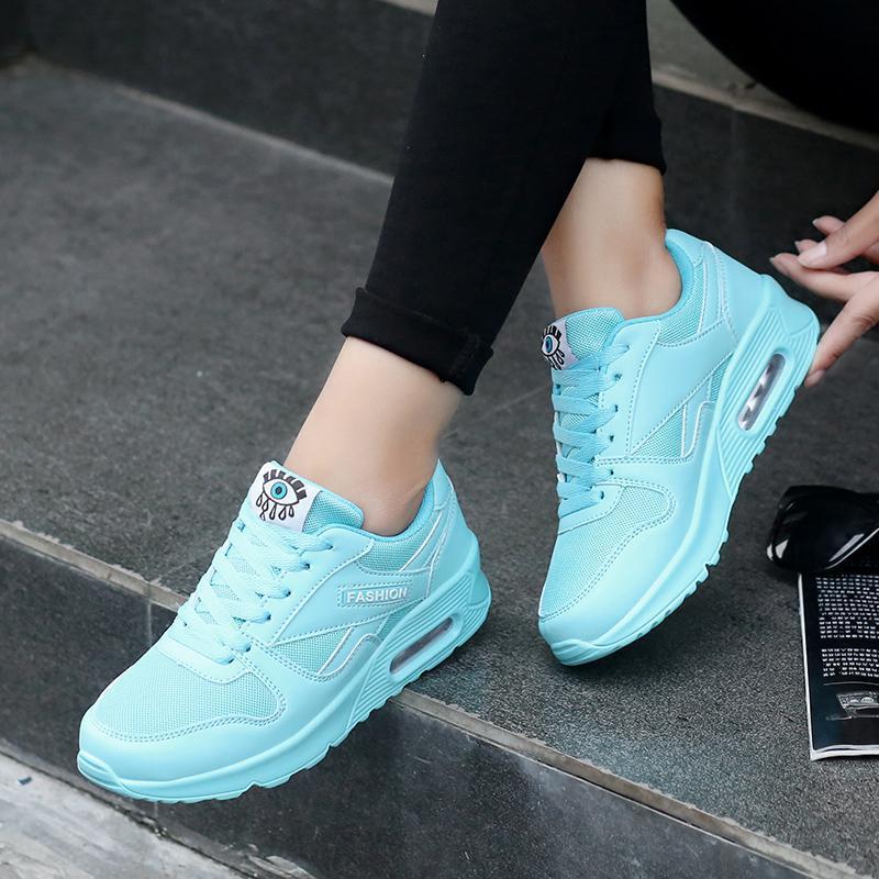 2017 модная Корейская женская обувь весна tenis feminino повседневная обувь прогулочная женская обувь на плоской подошве розовый на шнуровке женская обувь