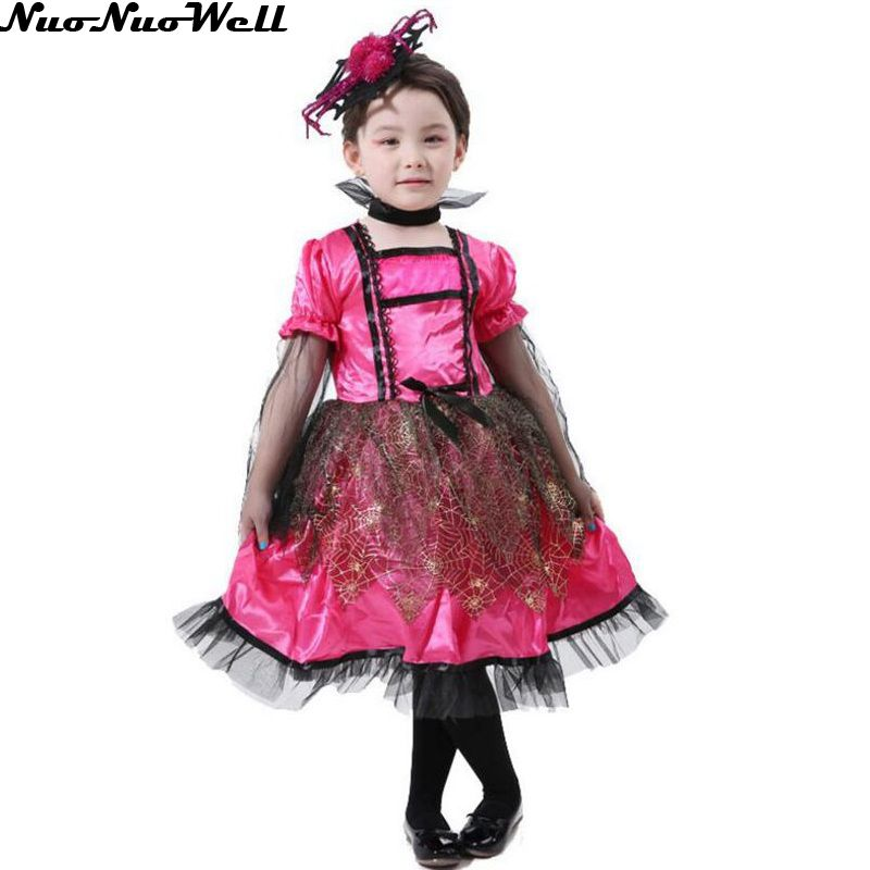new arrival witch costume fancy children halloween red black witch costume girls cosplay christmas halloween fancy - Witch Halloween Costumes For Girls
