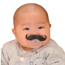 14 paragraph Baby funny silicone pacifier beard teeth infant tycoon cowboy funny pacifier
