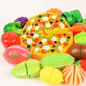 37 teile/satz obst und gemüse spielzeug Neue Schneiden Obst Kunststoff Küche 2020 Spielen Haus Miniatur Kochen Lebensmittel Pretend Spielen Spielzeug