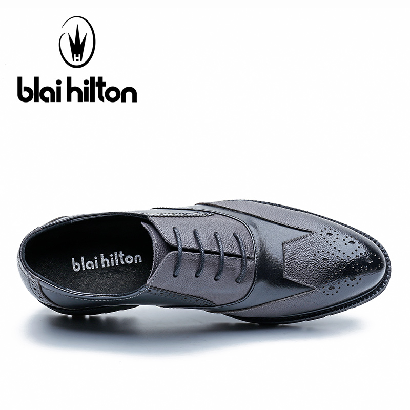 Blai Cuir D'affaires Noir Hilton En 100 Chaussures Véritable Hommes HBqp1