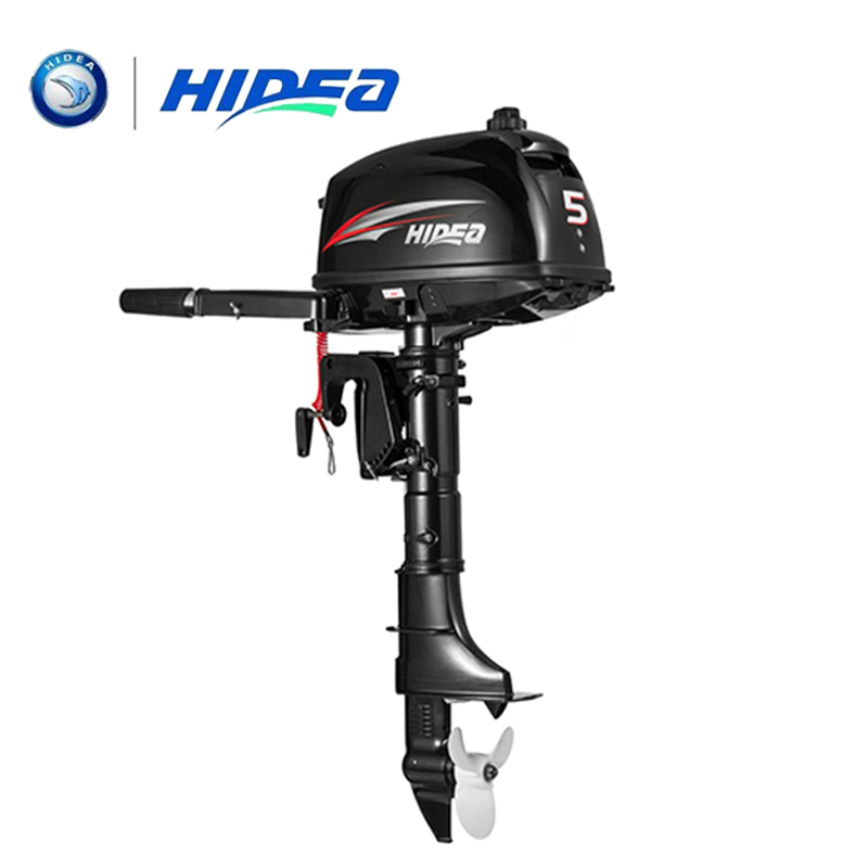 hidea 2 stroke 5hp long shaft outboard motor with hand