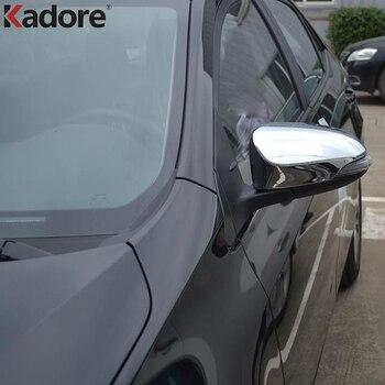 トヨタカローラ用2014 2015 e170 absクローム第十世代サイドドアバックミラーカバートリムカーaccssories 2ピース/セット