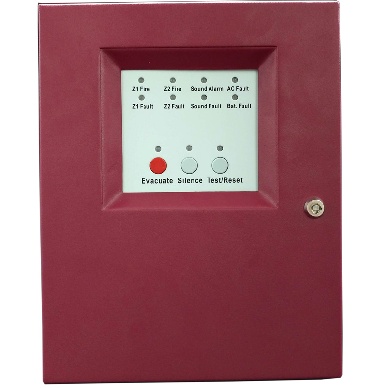 2 Zones Fire Alarm Control Panel with AC power input Fire Alarm Control System Conventional Fire  Control Panel2 Zones Fire Alarm Control Panel with AC power input Fire Alarm Control System Conventional Fire  Control Panel