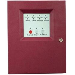 Panel de Control de alarma de fuego de 2 zonas con Panel de Control de alarma de fuego de entrada de corriente alterna