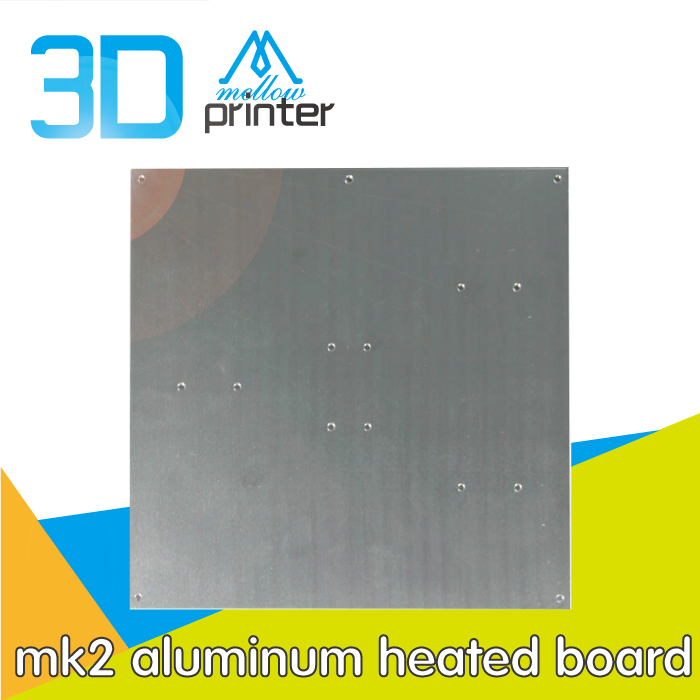 3d printer reprap mk2 aluminum heated board aluminum heat plate measurement 220*220*2mm