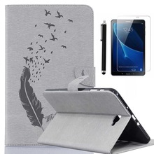 CucKooDo Birds Embossed Pu Leather Wallet Case Stand Protective Case For Samsung Galaxy Tab A 10.1-inch SM-T580 SM-T585