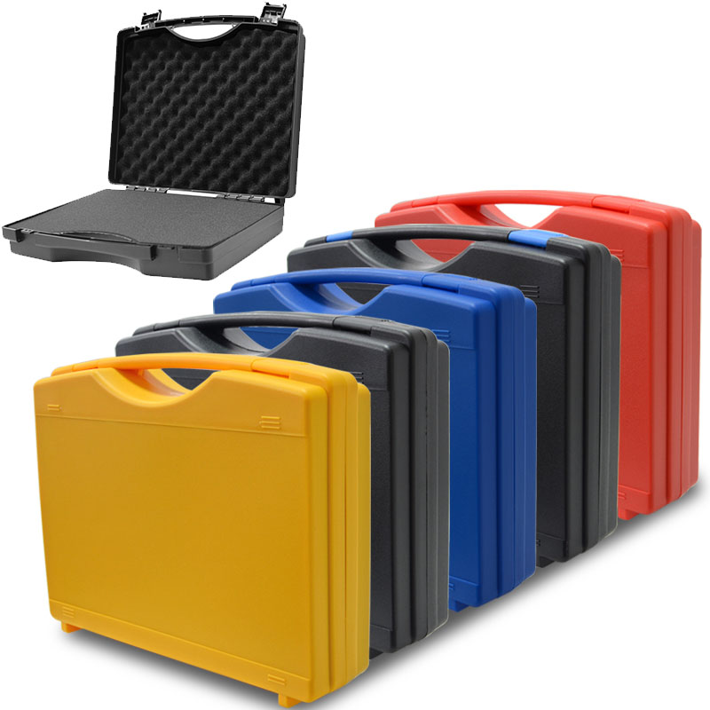 340x273x83mm Instrument Box Plastic Tool Box Impact Resistant Safety Case Suitcase Toolbox With Pre-cut Foam