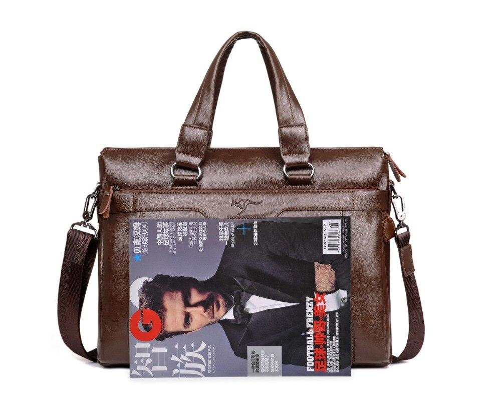 ZYJ Men\`s Business Leather Shoulder Laptop Briefcase Bags Sling Travel Messenger Portfolio Bag Causal Bolsa Lawer Handbag (15)