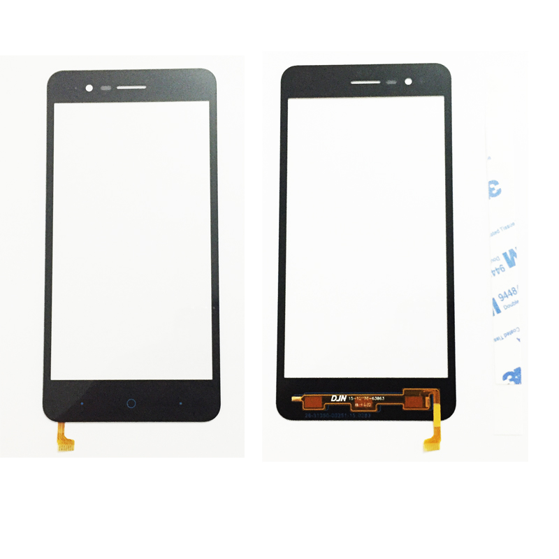 Original New Black Front Glass Lens For ZTE Blade A510 BA510 BA510C Front Glass Out Screen with flex calbe ...