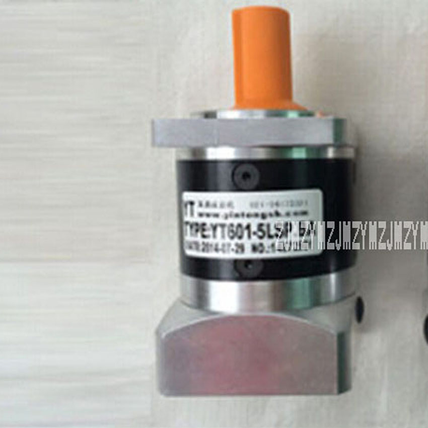 PF60-10 Precision Planetary Reducer 400W Servo Motor Reducer Precision Gear Box 3-10 Reduction Ratio 20N.M 4000r/min Hot Selling 25 1 gear ratio planetary servo motor reducer nema24