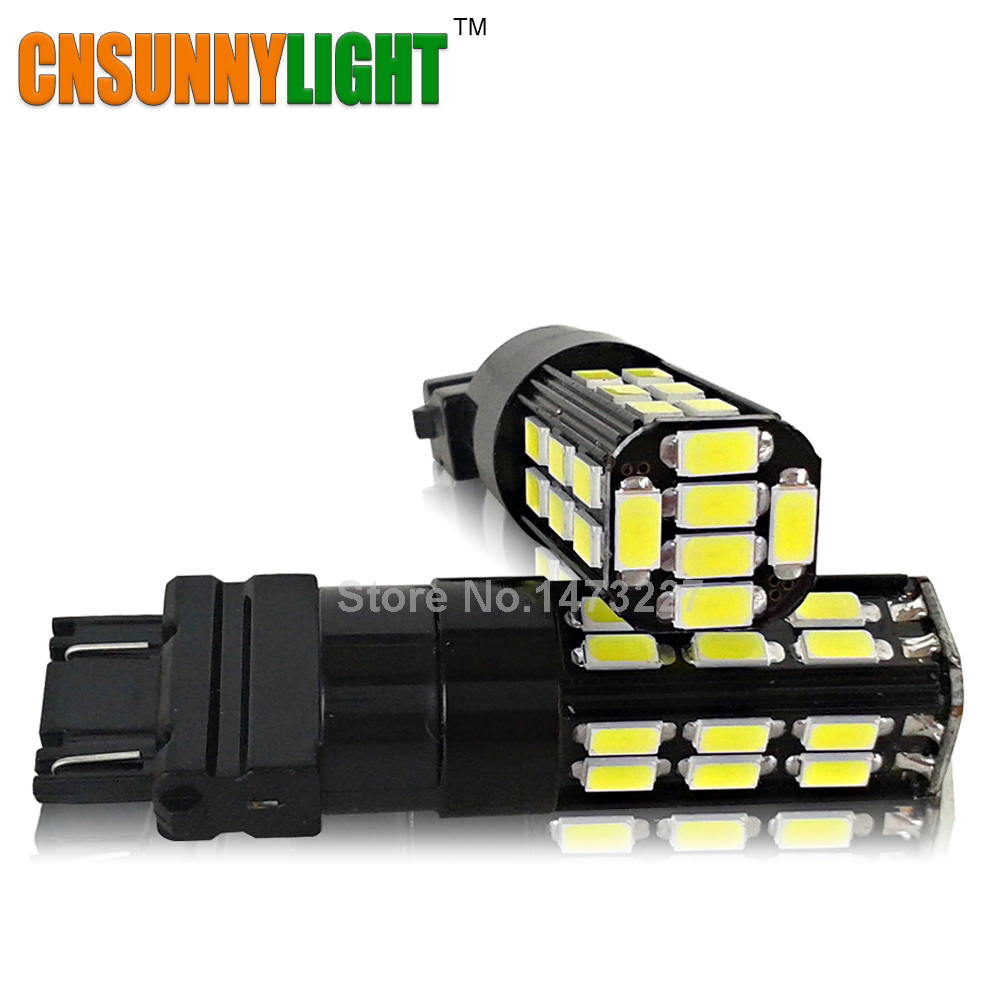 CNSUNNYLIGHT 3157/T25 P27/7W High Power 30SMD 5730 LED 12V White Led Bulbs for Car Turn Signal Brake Reverse Lights