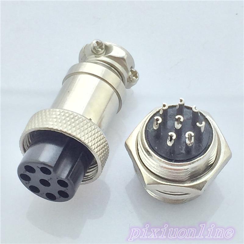 1set GX16 8 Pin Male Female Diameter 16mm L76Y Circular Aviation Socket Plug Wire Panel Connector High Quality On Sale 7 16 gx12 aviation circular connector 2 pin 3pin 4pin 5pin 6pin 7pin male plug