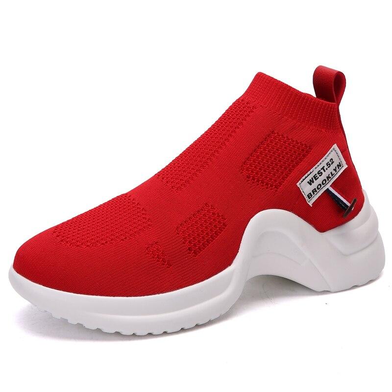 Moda Plataforma blanco Verano Pisos 2018 Cómodo Casual Femme Zapatillas Zapatos Femeninos Malla Mujer Chaussure rojo Transpirable Negro M5 T8Tqrnv