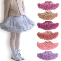 &E-babe&Wholesale Baby Girls Chiffon Fluffy Pettiskirts Tutu Princess Party Skirts Ballet Dance Wear Kids Petticoat Clothes