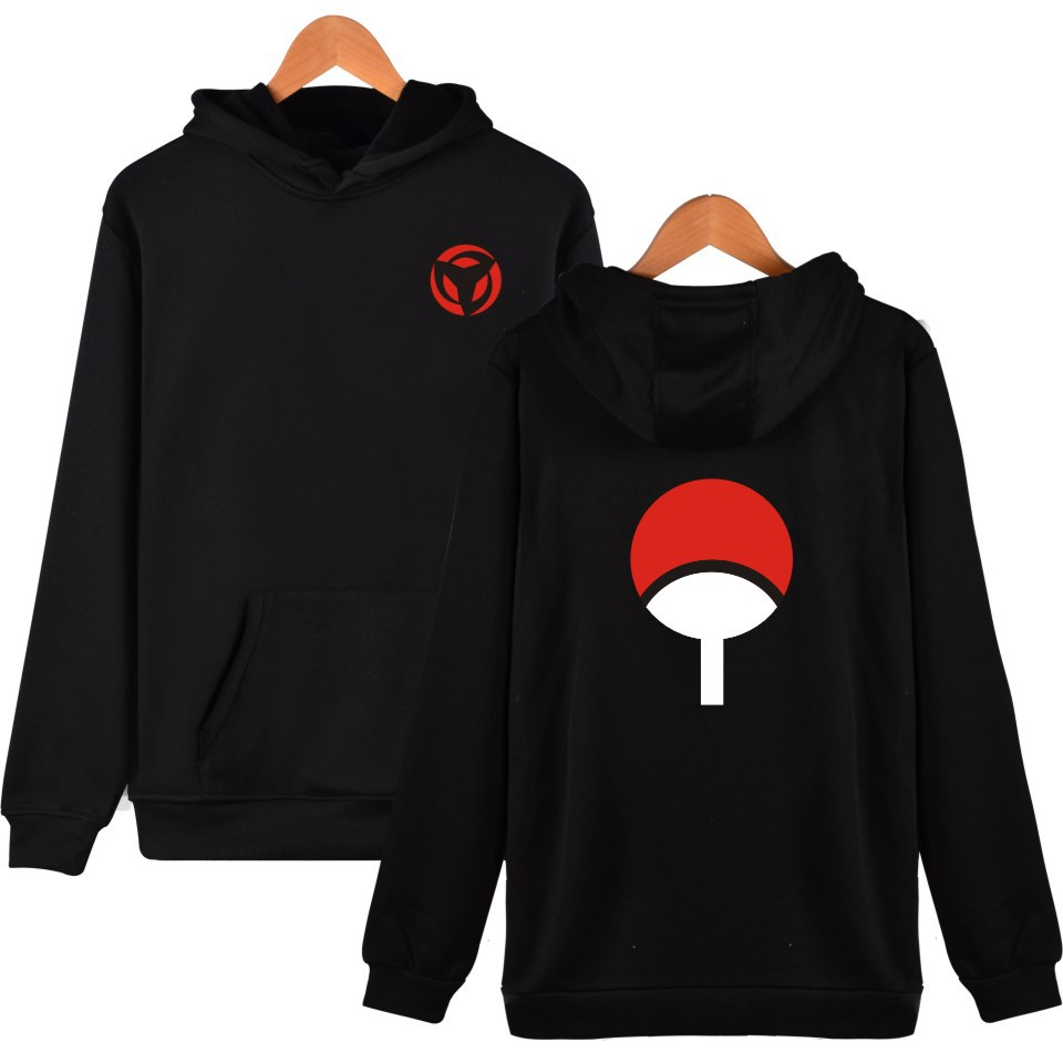 Waidx Uchiha Hoodies Men Belt Pullover Sasuke NARUTO Sweatshirt Front Pocket Streetwear Cotton Hip Hop Outerwear Drop Shipping