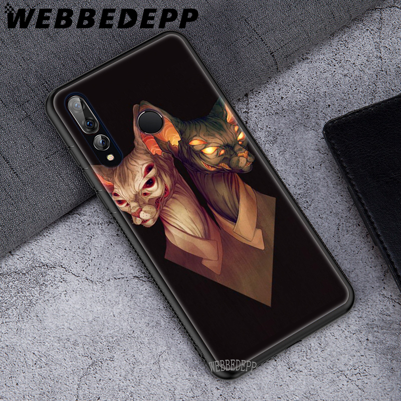 WEBBEDEPP Sphinx Cat Soft TPU Case Cover for Huawei P8 P9 P10 P20 P30 Lite Pro P Smart 2019 in Fitted Cases from Cellphones Telecommunications